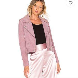 BlankNYC suede jacket in Lilac